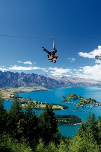 Zipliner-enjoys-an-alternative-view-of-Queenstown