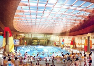 4a - Day view of indoor wave pool