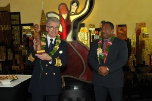 Captain with the Honorable Minister of Trade, Tourism and Ni Vanuatu Business