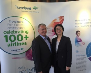 Damien Hickey, VP and Global Sales Strategy, Air Commerce, Travelport with Ai-Ling Ng, Chief Commercial Officer, Tigerair Taiwan