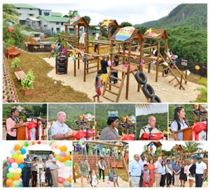 Montagne Posse prison playground opening