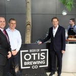Otis bar and Grill opening - From left - Campbelltown Catholic Club CEO Michael Lavorato, Rydges Campbelltown GM Brett Barlow and Rydges Hotels and Resorts MD Norman Arundel