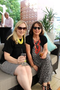 Otis opening - from left Kristen Green and Jill Teeling - both from Campbelltown Catholic Club