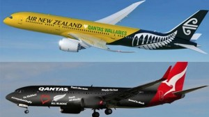 Rugby wager included new livery suggestions for Qantas and Air New Zealand