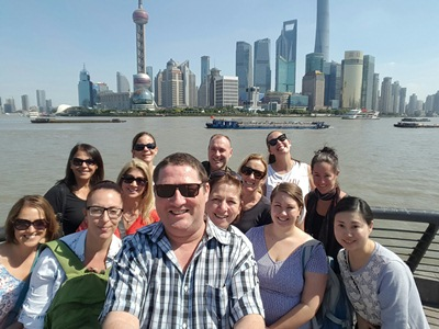 Wendy Wu Tours famil to Shanghai October 2015