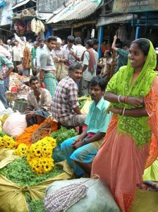 flower market India  high res