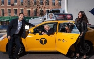 Richard Branson in a HailO Cab in New York City