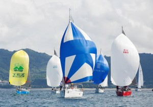Cruising fleet. Phuket King's Cup 2015.