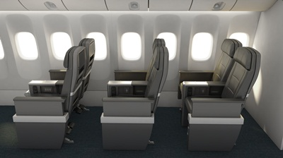 American Airlines Premium Economy_Seats_Side_View