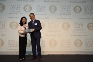 Lanson Place Hotel receives Outstanding Customer Service Award from Small Luxury Hotels of the World 2015 Awards