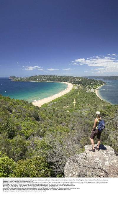 Lighthouse walk track at Barrenjoey Headland, Palm Beach photo credit Hamilton Lund, Destination NSW