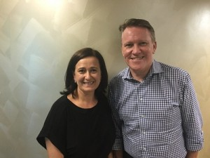 NCL's Operations Contact Centre Manager, Elizabeth Krstevski with Steve Odell, SVP & MD Asia Pacific NCLH