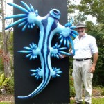 Nudi sculpture - Billy the Blue Dragon with Matt Johnstone from Atlantis