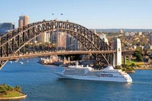 Silversea Cruises Silver Whisper in Sydney Harbour