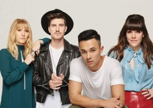 X factor finalists - from left Jess & Matt, Cyrus and Louise
