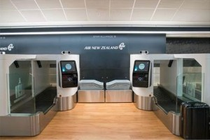 Air New Zealand's new biometric bag drops at Auckland International Airport.