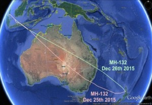Aviation Herald's comparative diagram of flight paths from Auckland to Kuala Lumpu