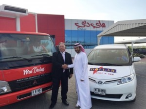 Jay Andres, CEO of Mai Dubai and Marwan Al Mulla ,GM of Dollar Rent-a-Car