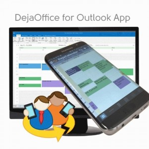 DejaOffice for Outlook App - Securely Sync and Store your Contacts, Calendar, Tasks and Notes without the Cloud (PRNewsFoto/CompanionLink Software, Inc.)
