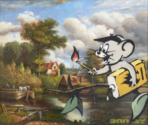 Banksy Corrupted Oil Jerry