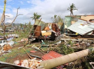 Cyclone damage in Fiji