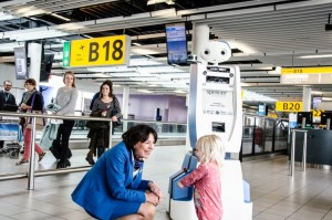 Spencer robot completed tests guiding KLM passengers at Schiphol