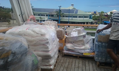 Basic Supplies for Lau Islands onboard Reef Endeavour 3