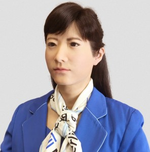 CHIHIRA KANAE - Toshiba's Chihira Aico robot, a communication android, has been made to look like a 32-year-old Japanese hostess