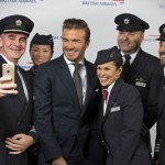 David Beckham poses for a selfie with Briitsh Airways pilots and cabin crew (c) Wouter Kingma (2)