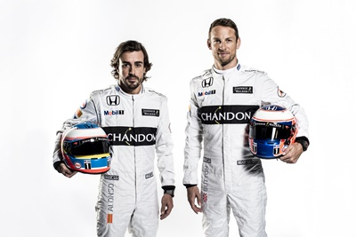 Fernando Alonso & Jenson Button Close Up Portrait