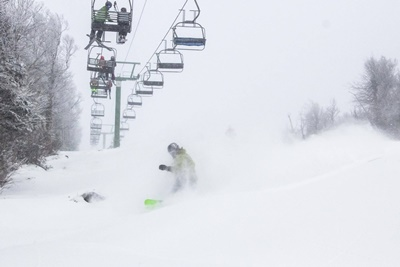 Jay Peak Goliath pow turn 12_29_15