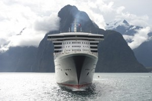 Mandatory credit-  James Morgan - Cunard QM2 Maiden Visit to Milford Sound  - 2 - March 16 2013
