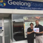 Mediterranean cruise winner Geelong Travel's Loretta Millar with Princess Cruises BDM for Victoria Eric D'errico