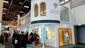 Oman Air booth in ITB