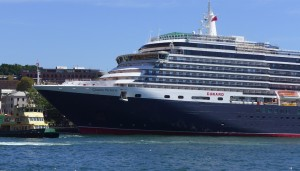 Queen Victoria at Sydney's Circular Quay, adjacent to Bennelong Restaurant at Sydney Opera House yesterday