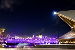 Queen Victoria illuminated purple in Sydney for International Women's Day  March 8 2016 Credit - James Morgan