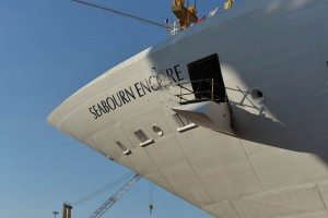 Seabourn Encore float out ceremony
