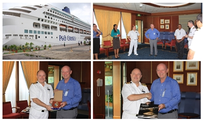 Visit on Board Auroa Cruise Ship