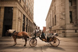 montreal cart and cobblestones