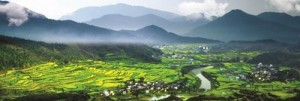 "The Terraced Rapeseed Flower Hills of Jiangling, Wuyuan is hailed as one of the four ""seas of flowers"" in China (PRNewsFoto/Jiangxi Wuyuan Tourism Co., Ltd.)"
