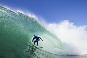 Ian Walsh performs at the Red Bull Cape Fear event at Cape Solander in NSW Australia on August 31, 2014
