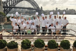 Members of the Executive Chefs Club onboard Pacific Jewel