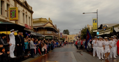 Pacific Eden officers in the Fremantle ANZAC Day parade