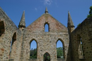 Port Arthur's neo-Gothic church came to be seen as a romantically picturesque ruin. A + T Flickr, CC BY-NC-ND