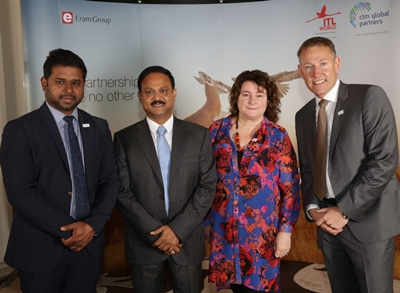 Rafeeq Mohammad and Dr. Siddeek Ahmed of ITL World with Debbie Carling and Fritz De Kok of CTM