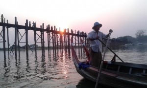 Teak Bridge at sunset