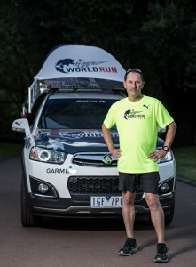 Chase car driver for the 2016 Wings for Life World Run Melbourne Tim Crosbie with the Chase car at the Queen Victoria Gardens in Melbourne on Tuesday 5th April, 2016. Picture: Mark Dadswell/Red Bull Content Pool