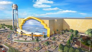 A rendering of the Warner Bros. World Abu Dhabi theme park entrance