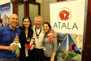 ATALA expo - the ATALA  team from left Chad Carey, Michelle Mohaupt, Ted Dziadkiewicz and Jennyfer Pereira Johnson