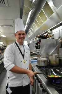 Award winning chef George Jeffries